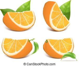 čerstvý, zralý, pomeranč