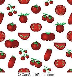 červeň, barva, rajče, jednoduchý ikona, seamles, model, eps10