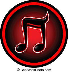 červeň, hudba