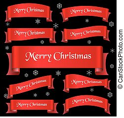 červeň, merry christmas, heslo, oblý, lem, standarta, eps10
