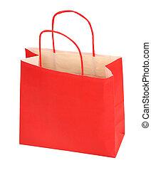 červeň, nákupní taška