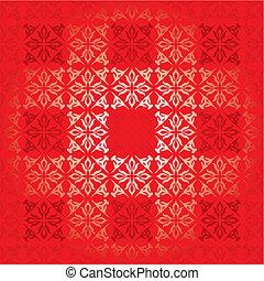 červené šaty čtverhran, sklon