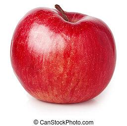 červené šaty jablko, osamocený, oproti neposkvrněný