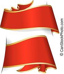 červené šaty lem, vybírání