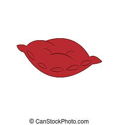 červené šaty poduška, neobsazený