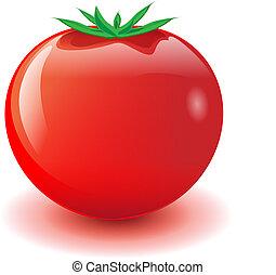 červené šaty rajče