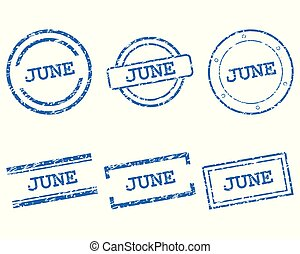 červen, poštovní známky