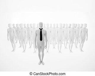 člověk obchodního ducha, stálý, před, neurč. člen, dav