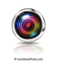 čočka, kamera, barvitý