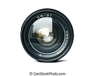 čočka, kamera