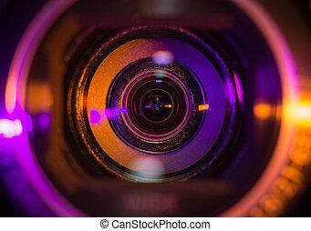 čočka, videokamera