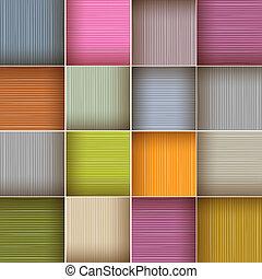 čtverec, barvitý, dřevěný, abstraktní, vektor, grafické pozadí