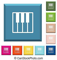 čtverec, broušení, ikona, hotelový poslíček, klaviatura, klavír, neposkvrněný