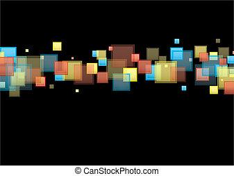 čtverec, duha, grafické pozadí