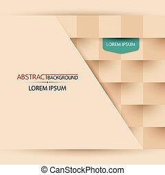 čtverec, grafické pozadí, s, abstraktní, tvořit, vektor