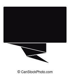 čtverec, prapor, ikona, jednoduchý, móda