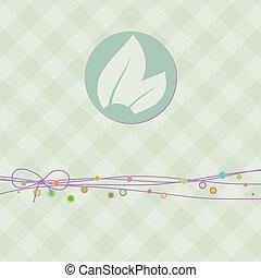 čtverec, prapor, s, leaf., eps, 8