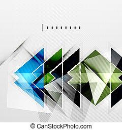 čtverhran, a, stíny, -, tech, abstraktní, grafické pozadí