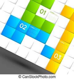 čtverhran, stíny, grafické pozadí, šablona, infographic