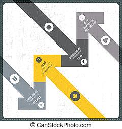 čtyři, prapor, doplňkové příslušenství, infographics