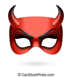 ďábel, maskovat