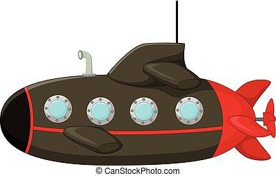 łódź podwodna, rysunek, klasyczny