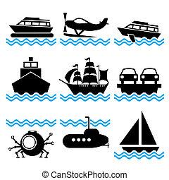 łódka, ikony