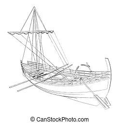 łódka, starożytny