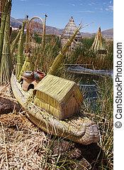 łódka, titicaca
