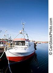 łódki, dok, wędkarski