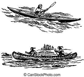 łódki, Prymitywny