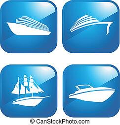 łódki, statki
