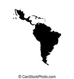 łacina, mapa, ameryka