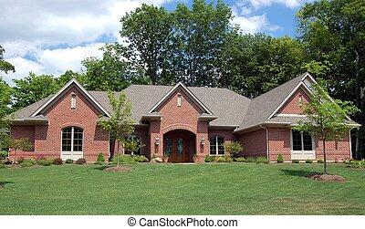 ładny, dom