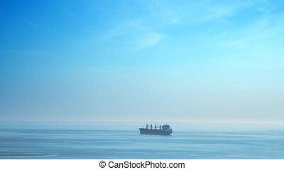 ładunek, odległy, ruchomy, sea., statek