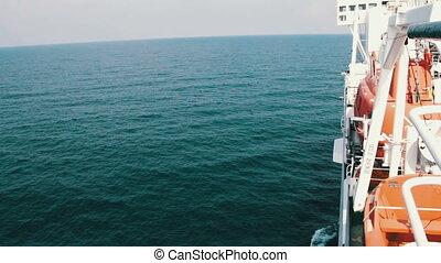 ładunek, ruchomy, morze, prom