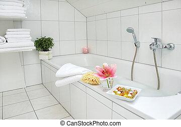 łazienka, biały, szczegół