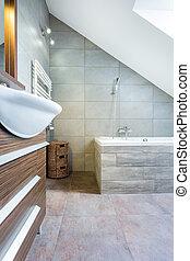 łazienka, nowoczesny, kosztowny