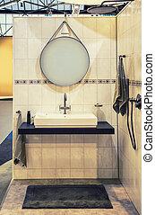 łazienka, szczegół, lustro