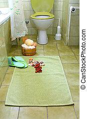 łazienka, zielony