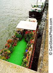 łodzie mieszkalne, w, paryż
