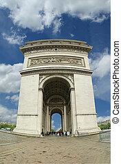 łuk de triomphe, paryż, france.