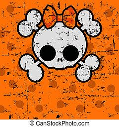 łuk, halloween, czaszka, sprytny