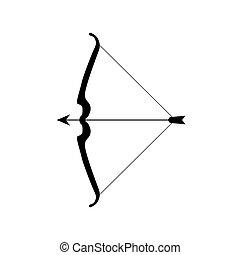 łuk, strzała ikona