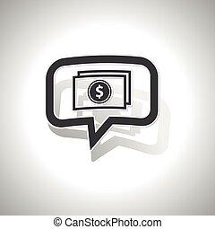łukowaty, wiadomość, dolar, banknot, ikona