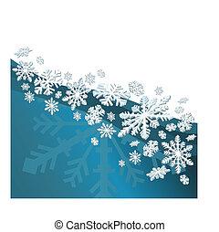łuski, śnieg