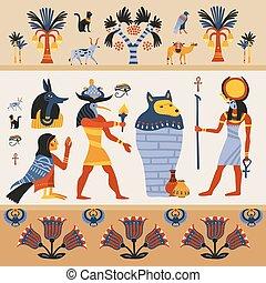 ősi, ábra, egyiptomi