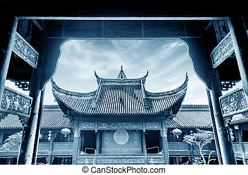 ősi, építészet, kínai