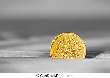 ősi, arany-, érme