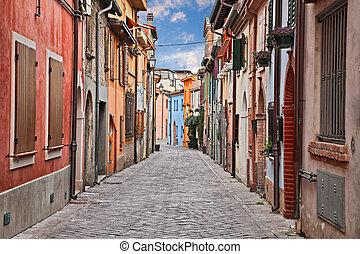 ősi, emilia-romagna, szanatórium, körzet, utca, rimini, giuliano, italy: